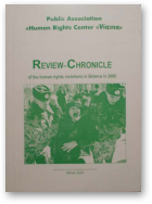 Review-Chronicle of the human rights violations in Belarus in 2000