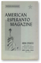 American Esperanto Magazine, july-aug, 1953
